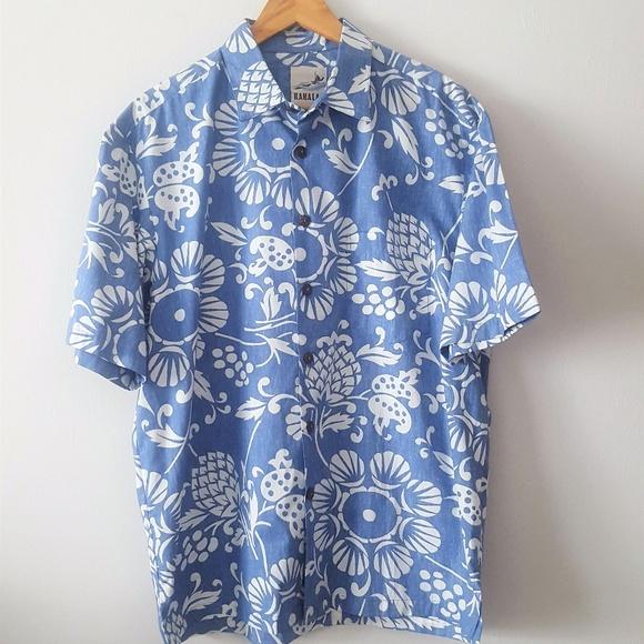 040d4bb4 Kahala 1936 Shirts | Nwot Hawaiian Dukes Pareo Button Down | Poshmark